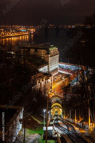 Fotobehang Kiev Kiev, Funicular
