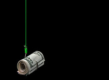 Money Roll On A Fish Hook With...