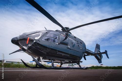 Türaufkleber Hubschrauber Black helicopter