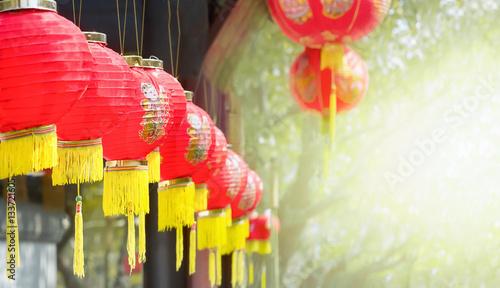 Poster Pekin Chinese lanterns