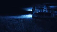 Abandoned House Halloween Background.