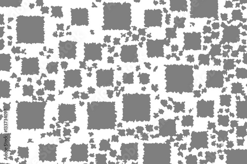 Poster Pixel Abstract background with random boxes. Pattern for new year concept.