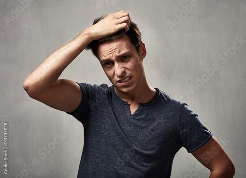 disappointed man portrait. Fototapet