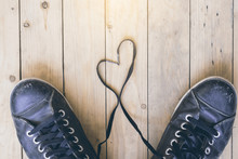 Black Sneakers With Heart On W...
