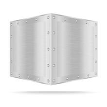 Silver Metal Box On White