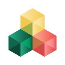 Abstract Isometric Cubes For Design