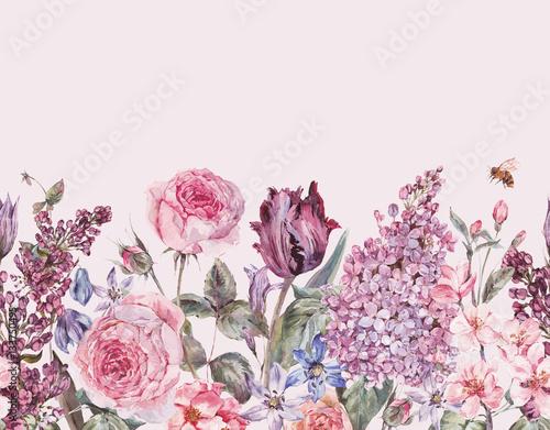 rocznik-ogrodowej-akwareli-purpurowej-kwiecistej-wiosny-bezszwowa-granica