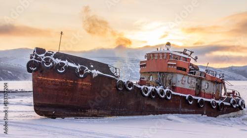 Keuken foto achterwand Schip Old rusty ship