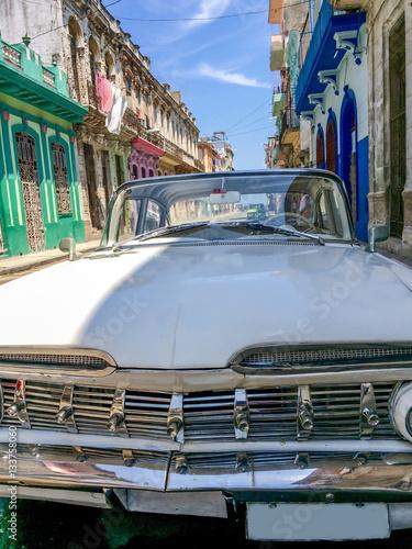 Vászonkép  Vintage classic american Impala car car in Havana, Cuba