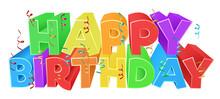 Happy Birthday Word Text Sign