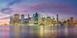 Evening Lights of Famous Manhattan Skylines, New York City