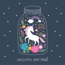 Unicorn In Terrarium