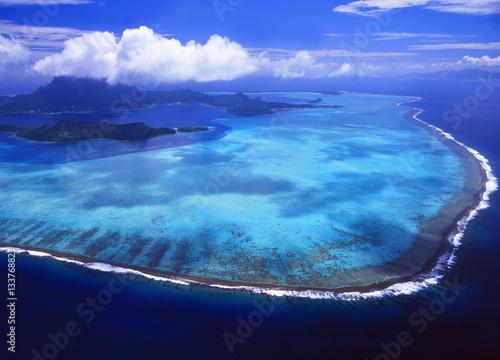 Zdjęcie XXL Widok z lotu ptaka Bora Bora w Francuskim Polynesia