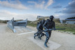 canvas print picture - Utah Beach invasion landing memorial,Normandy,France
