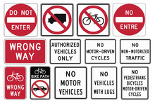 Road Signs In The United States. R5 Series Exclusionary.