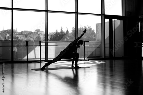 Photo  Silhouette danseuse