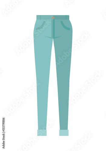 Fotografie, Obraz  Trousers Unisex Pants Isolated on White Background