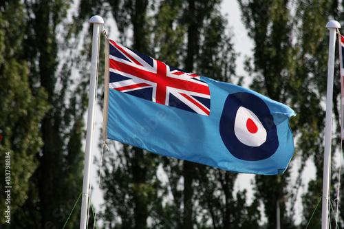 Fotografia Flaga brytyjskiego Royal Airforce.