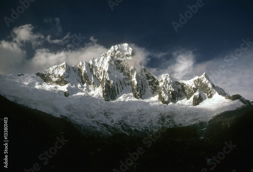 Fotografie, Obraz  Taillaraju, .Steep ridged mountain
