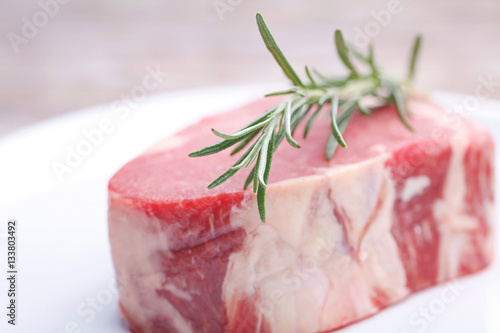 Photo  frisches Steak