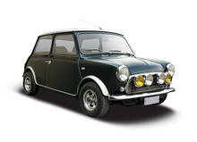 Classic Mini Car Isolated On W...