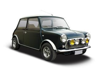Klasični mini automobil izoliran na bijeloj boji