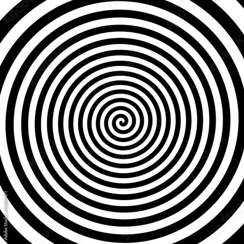 Crédence de cuisine en verre imprimé Spirale Black And White Spiral Background