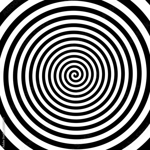 Poster de jardin Spirale Black And White Spiral Background