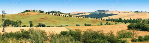 Tuinposter Toscane Paysage des environs de Sienne en Toscane