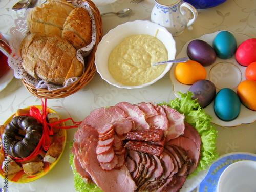 Fototapeta Wielkanocny stół obraz
