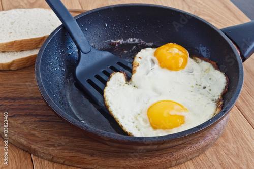 Foto op Plexiglas Gebakken Eieren Fried eggs