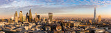 Fototapeta Fototapeta Londyn - Sonnenuntergang hinter der neuen Skyline von London