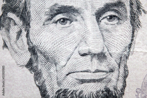 Macro Lincoln Five Dollars Poster