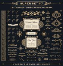 Calligraphic Vintage Elements....