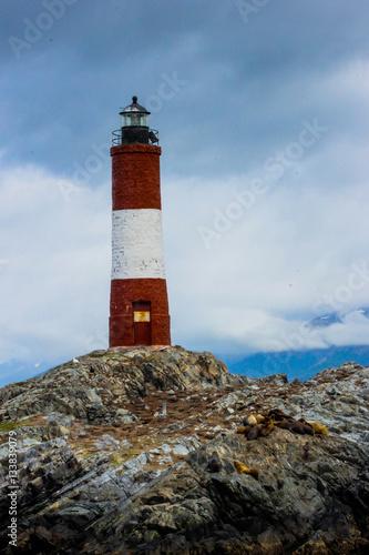 Garden Poster Lighthouse faro del fin del mundo