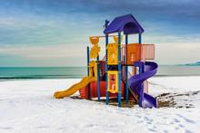 Child Playground Over Snow San...