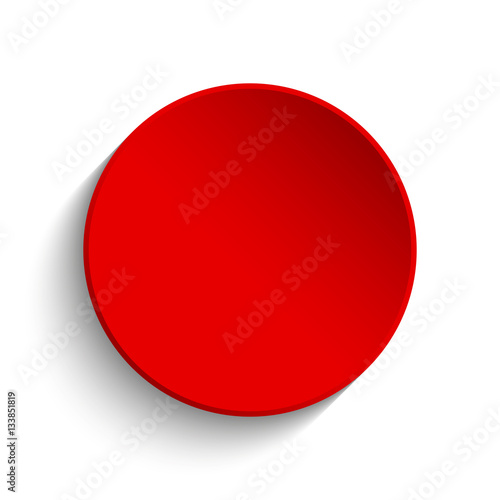 Red button on white background Poster
