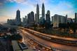 Kuala lumpur skyline in the morning, Malaysia