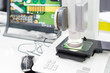 Inspection electronic circuit board by automate vision system sh