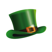 Green St Patrick Day Hat Icon Vector Illustration Eps 10