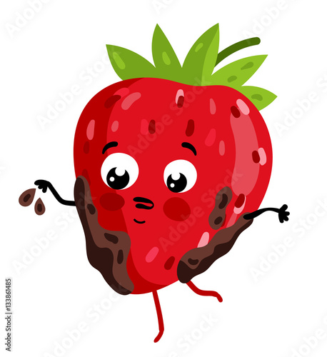 Cute Fruit Strawberry Cartoon Character Isolated On White Background Vector Illustration Funny Positive And Friendly Strawberry Emoticon Face Icon Happy Smile Cartoon Face Food Emoji Comical Fruit Buy This Stock Vector 🍓 strawberry emoji was approved as part of unicode 6.0 standard in 2010 with a u+1f353 codepoint and currently is listed in 🎂 food & drink category. cute fruit strawberry cartoon character