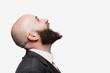Leinwanddruck Bild - Young bald man with a beard