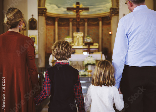 Photo Church People Believe Faith Religious Family