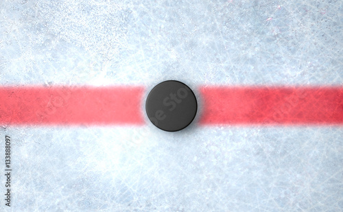 Hockey Puck Centre Wallpaper Mural