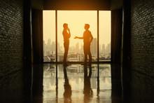 Two Businessmen Are Negotiatin...