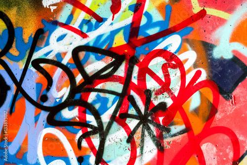 Fototapeta Uliczna sztuka - graffiti na ścianie