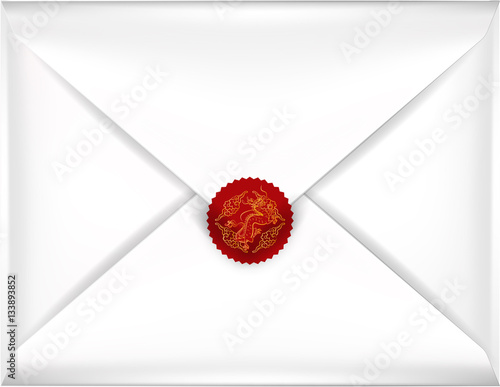 beautiful realistic illustration vector white envelope, white ...