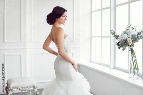 Beautiful bride Fototapeta