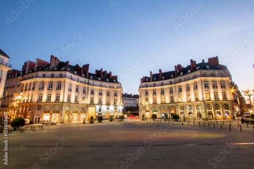 Valokuvatapetti Place Graslin de nuit - Nantes centre ville