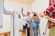 canvas print picture - Architekten planen Sanierung von Haus